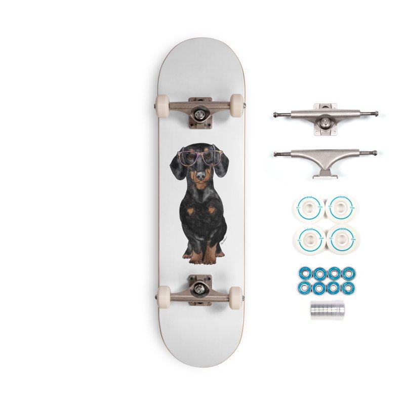Dapper Dachshund Accessories Skateboard by Tara Joy Andrews