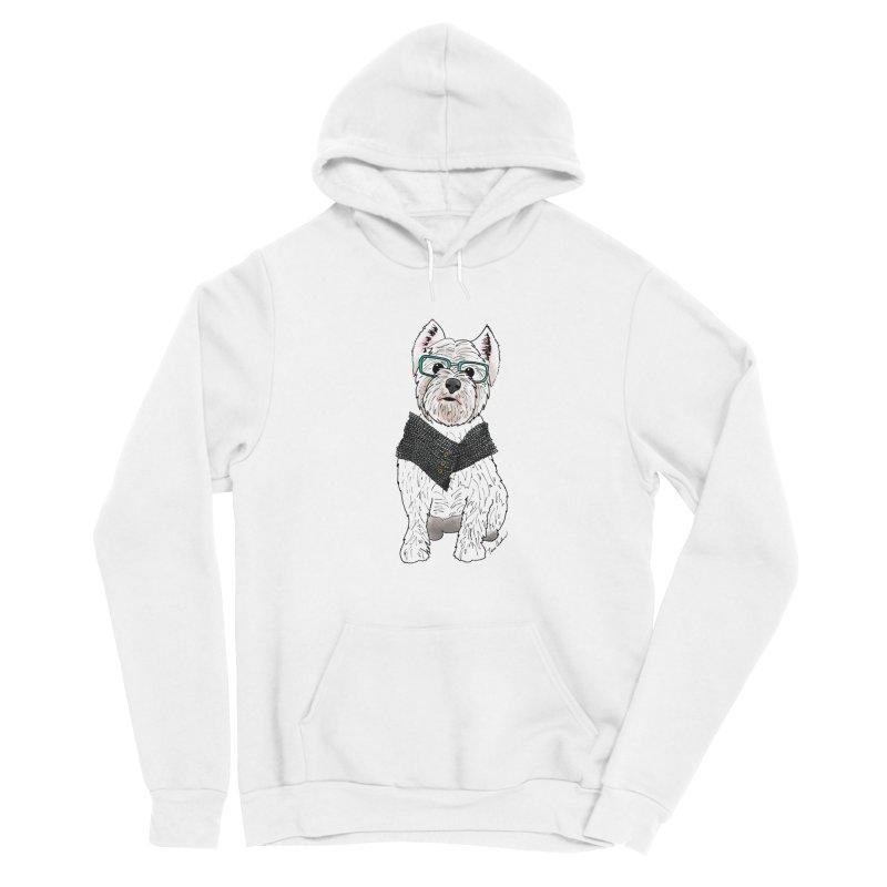 White West Highland Terrier Women's Pullover Hoody by Tara Joy Andrews