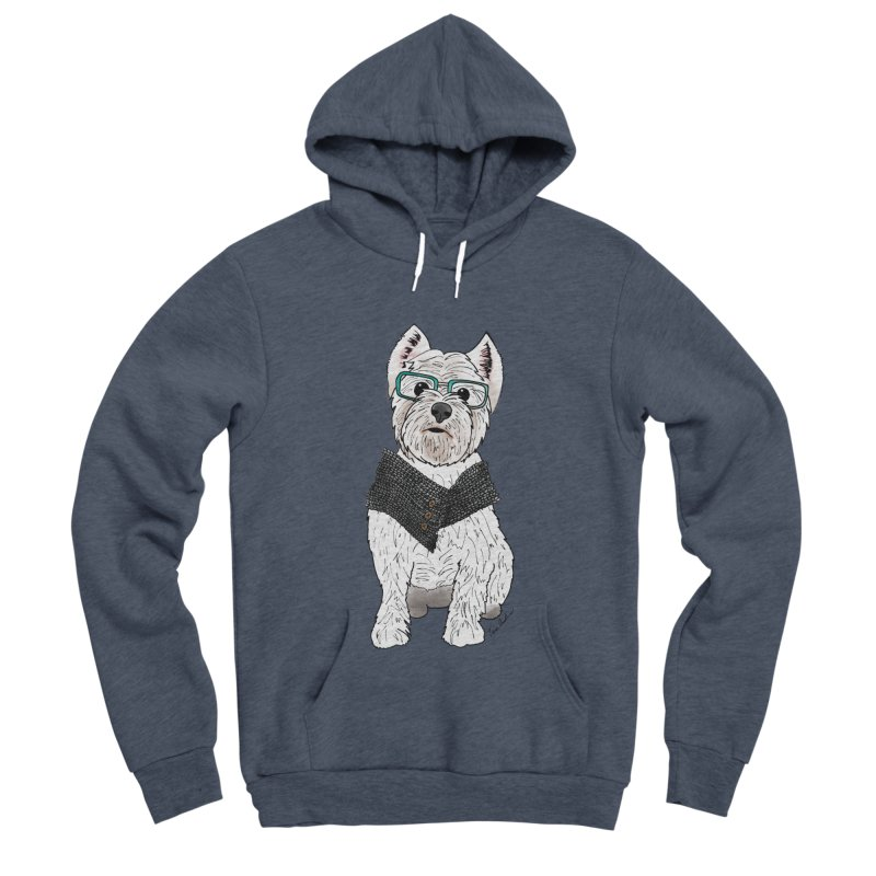 White West Highland Terrier Men's Sponge Fleece Pullover Hoody by Tara Joy Andrews