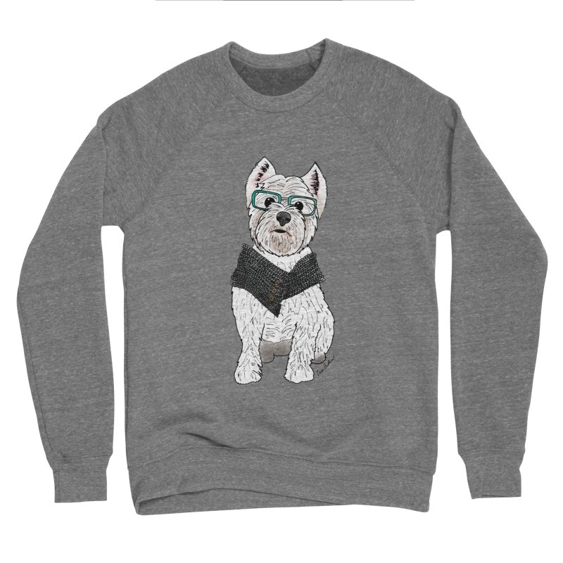 White West Highland Terrier Men's Sweatshirt by Tara Joy Andrews