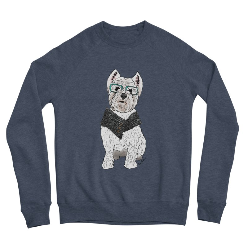 White West Highland Terrier Women's Sponge Fleece Sweatshirt by Tara Joy Andrews