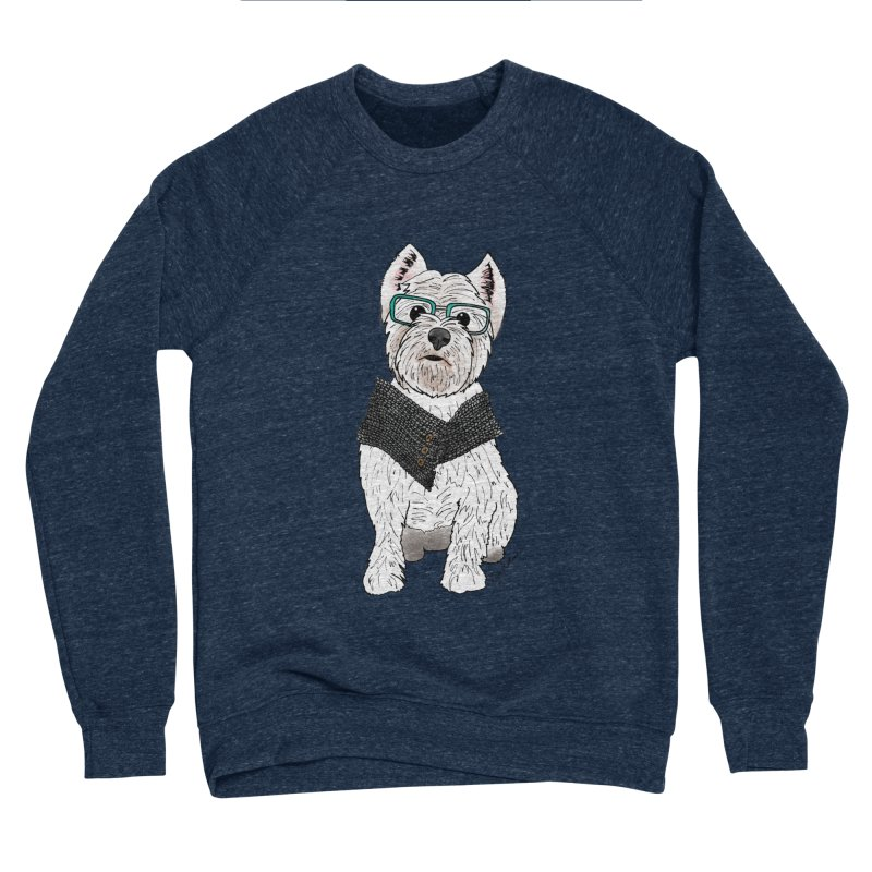 White West Highland Terrier Men's Sponge Fleece Sweatshirt by Tara Joy Andrews