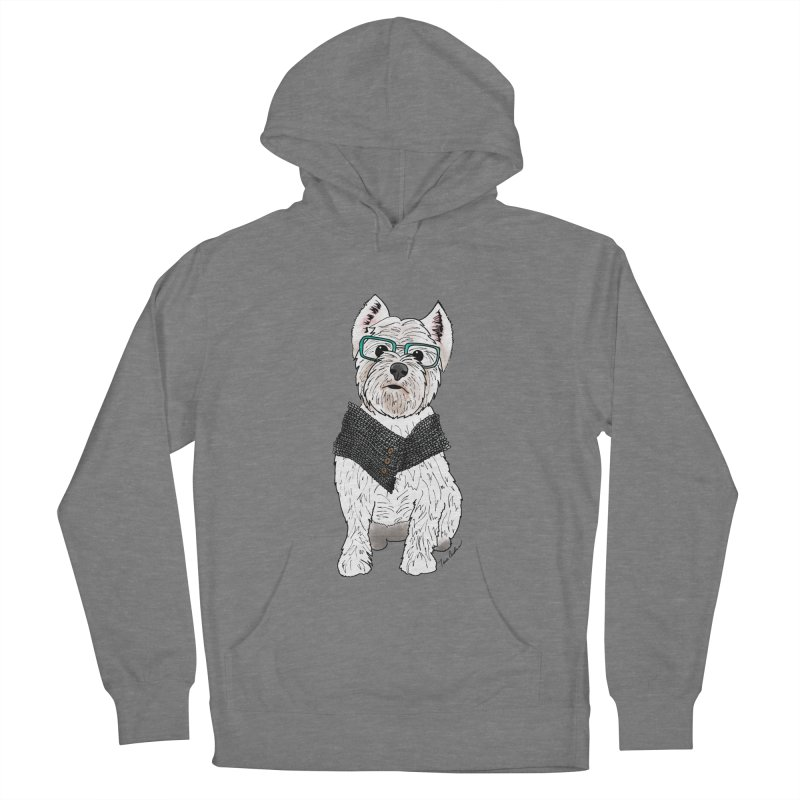 White West Highland Terrier Women's Pullover Hoody by Tara Joy Andrews