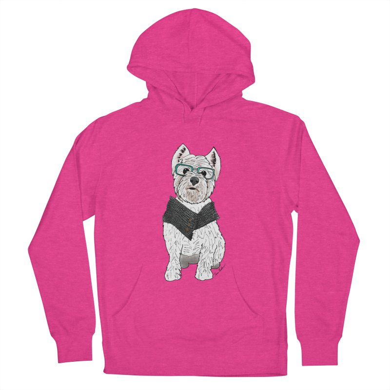 White West Highland Terrier Women's French Terry Pullover Hoody by Tara Joy Andrews