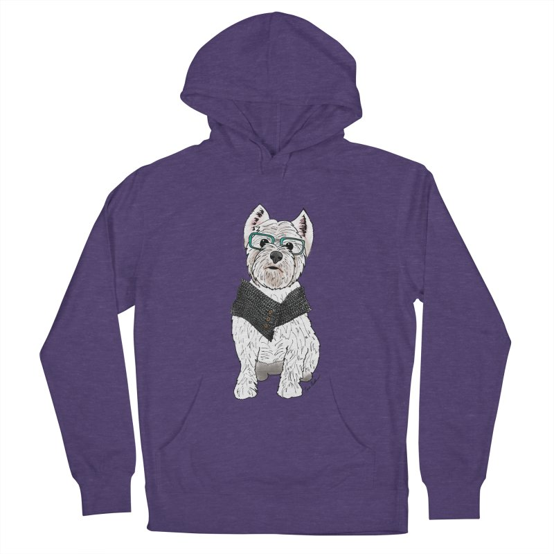 White West Highland Terrier Men's French Terry Pullover Hoody by Tara Joy Andrews