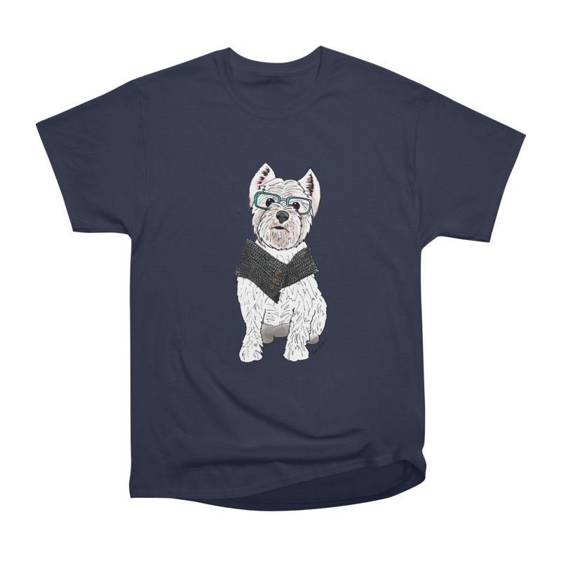 White West Highland Terrier Men's Heavyweight T-Shirt by Tara Joy Andrews