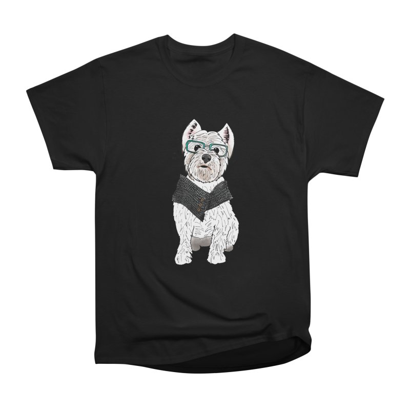 White West Highland Terrier Men's Heavyweight T-Shirt by Tara Joy Andrews