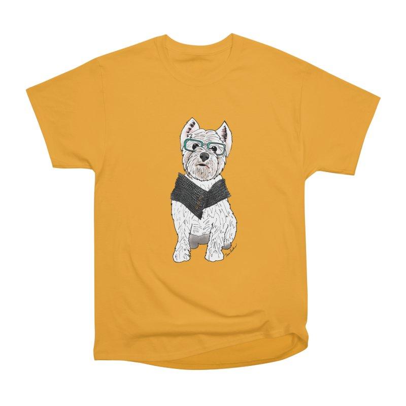 White West Highland Terrier Women's Heavyweight Unisex T-Shirt by Tara Joy Andrews
