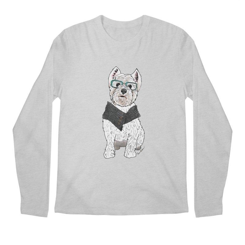 White West Highland Terrier Men's Regular Longsleeve T-Shirt by Tara Joy Andrews