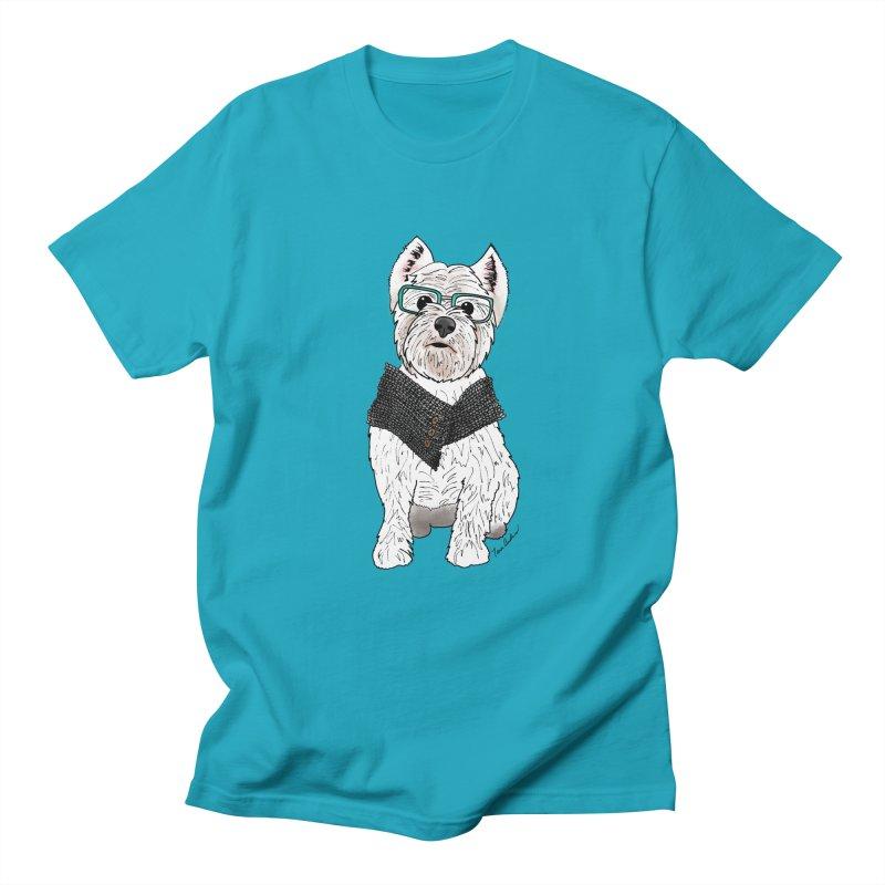 White West Highland Terrier Men's T-Shirt by Tara Joy Andrews