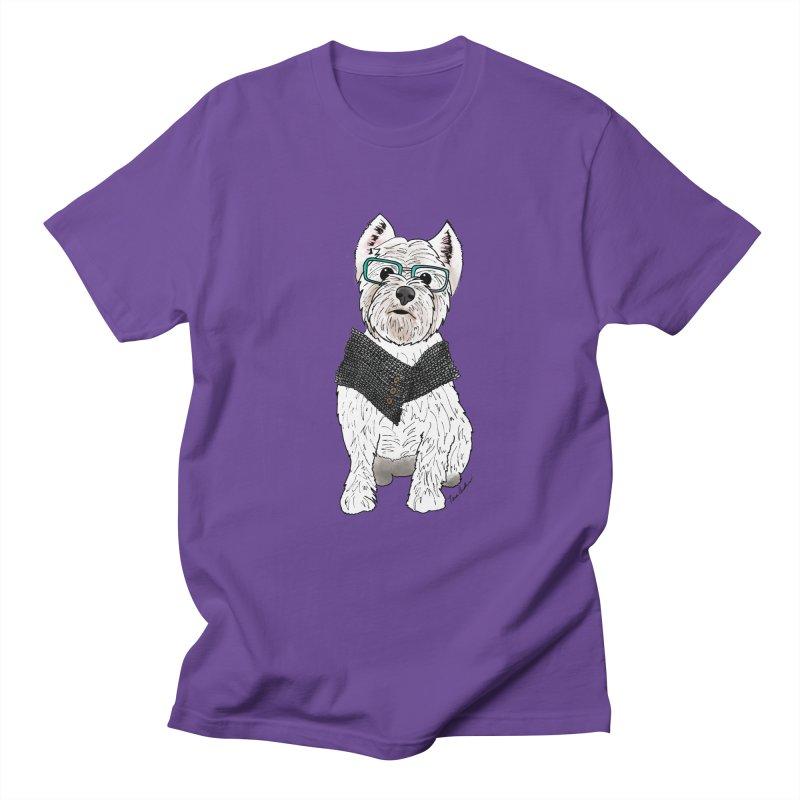 White West Highland Terrier Men's Regular T-Shirt by Tara Joy Andrews