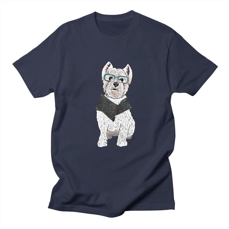 White West Highland Terrier Women's Regular Unisex T-Shirt by Tara Joy Andrews