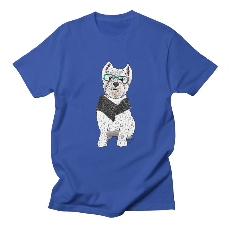 White West Highland Terrier Women's Regular Unisex T-Shirt by Tara Joy Andrews