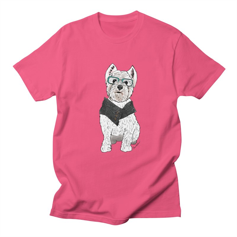 White West Highland Terrier Men's T-Shirt by Tara Joy Andrews