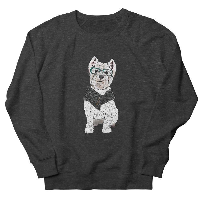 White West Highland Terrier Men's French Terry Sweatshirt by Tara Joy Andrews
