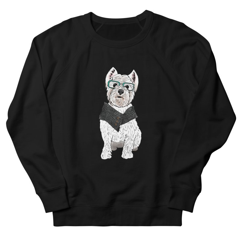 White West Highland Terrier Men's French Terry Sweatshirt by Tara Joy Andrews