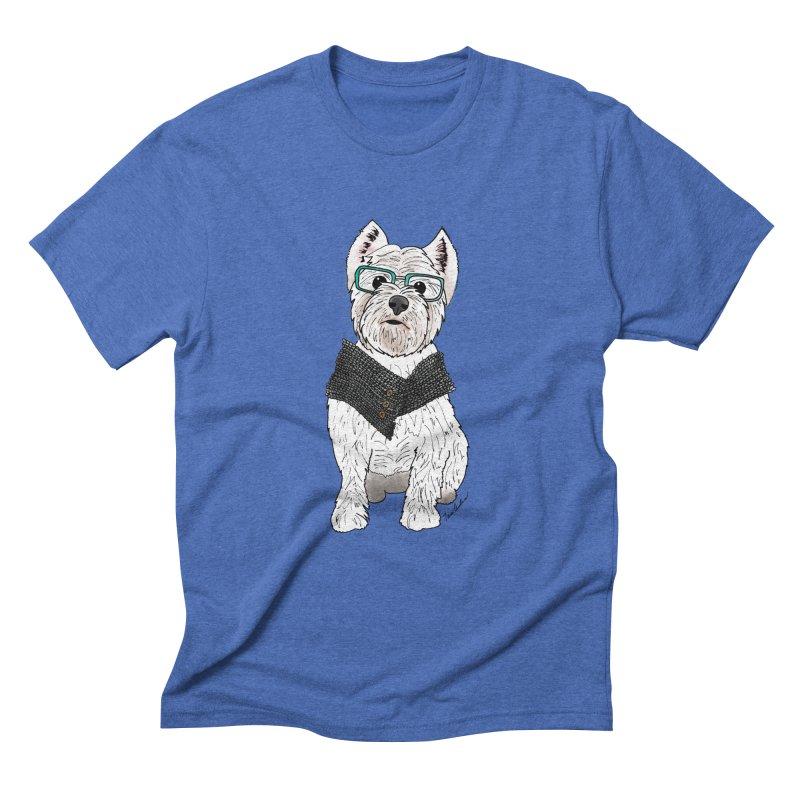 White West Highland Terrier Men's Triblend T-Shirt by Tara Joy Andrews