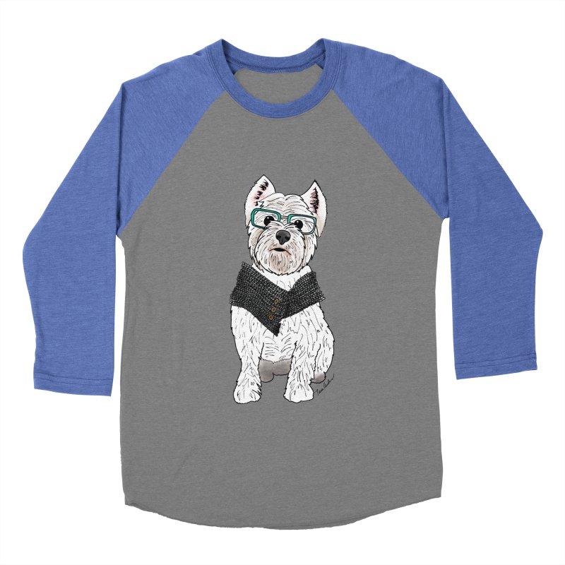 White West Highland Terrier Women's Baseball Triblend Longsleeve T-Shirt by Tara Joy Andrews