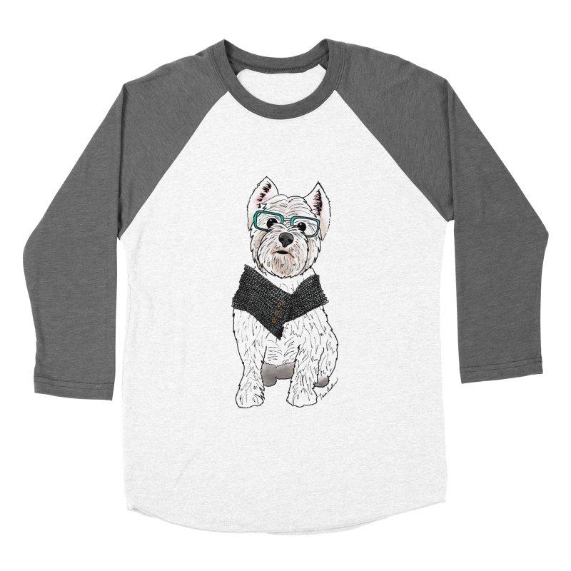 White West Highland Terrier Men's Baseball Triblend Longsleeve T-Shirt by Tara Joy Andrews