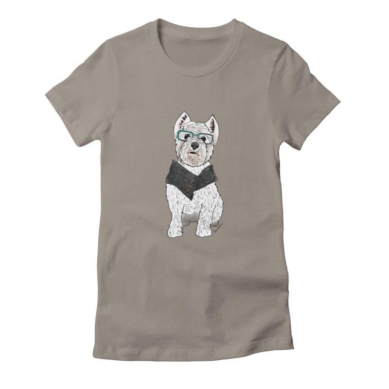 White West Highland Terrier Women's T-Shirt by Tara Joy Andrews