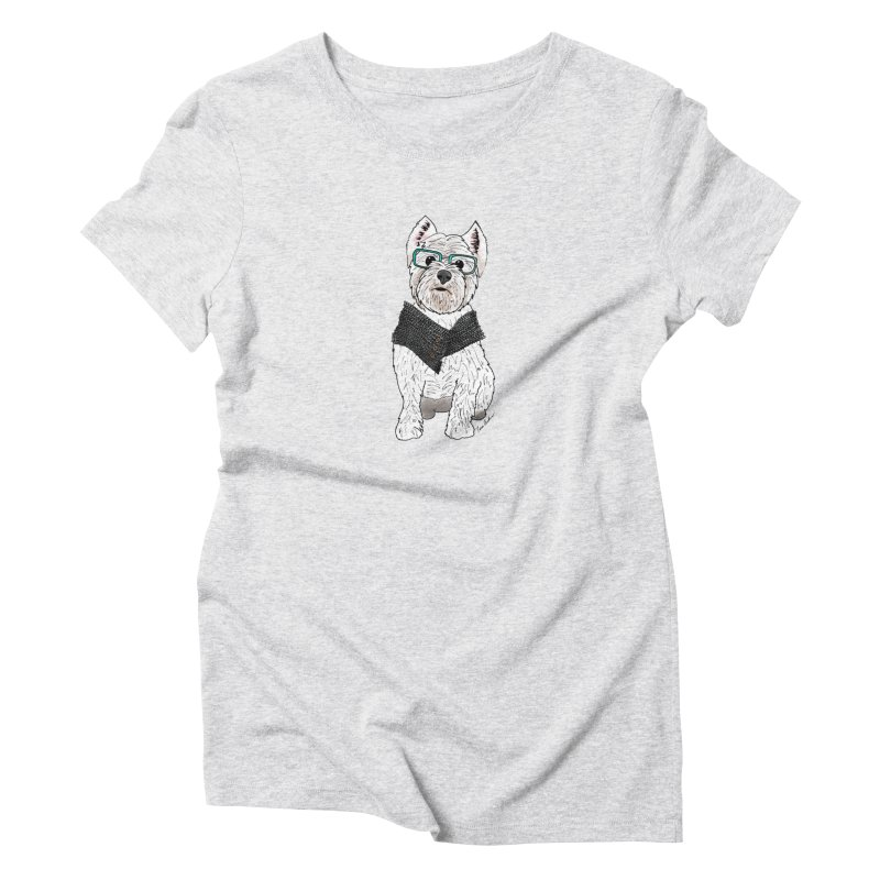 White West Highland Terrier Women's T-Shirt by Tara Joy Andrews