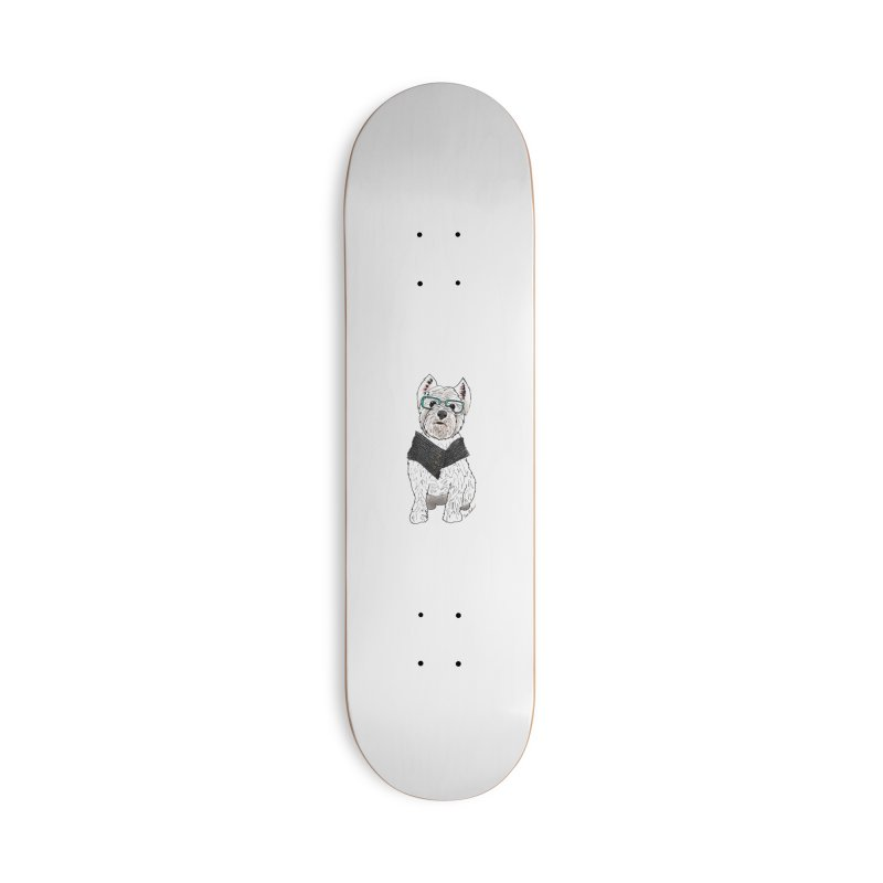 White West Highland Terrier Accessories Deck Only Skateboard by Tara Joy Andrews