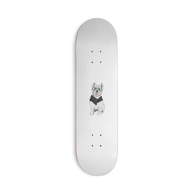 White West Highland Terrier Accessories Skateboard by Tara Joy Andrews