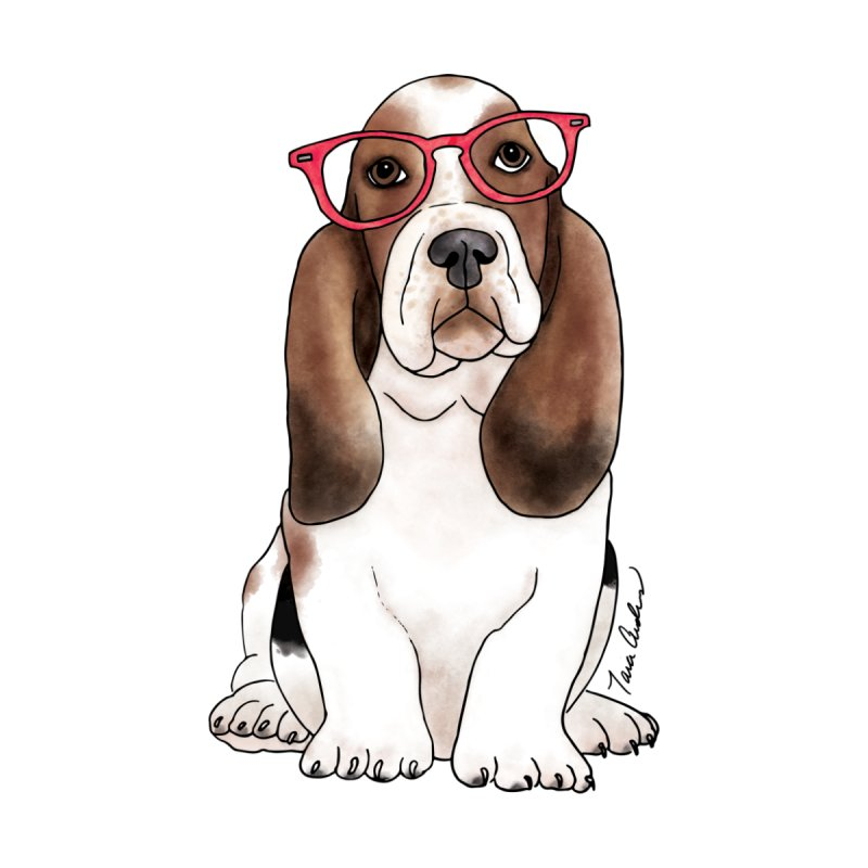 Bashful Basset Hound Men's T-Shirt by Tara Joy Andrews