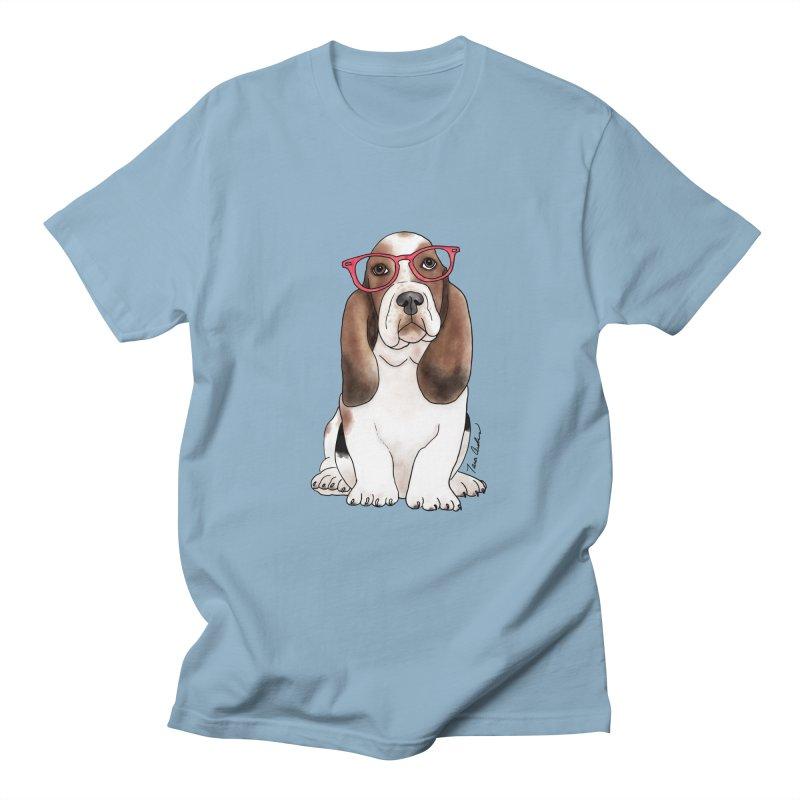 Bashful Basset Hound Men's T-Shirt by Tara Joy Andrews
