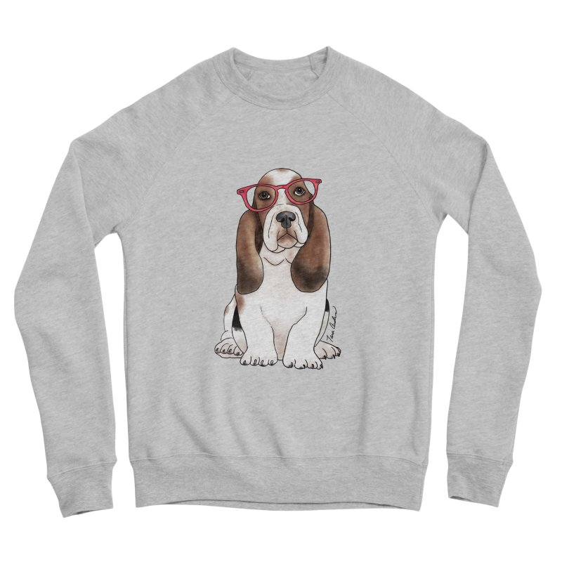 Bashful Basset Hound Women's Sponge Fleece Sweatshirt by Tara Joy Andrews