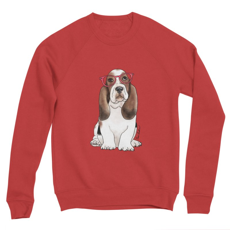 Bashful Basset Hound Men's Sponge Fleece Sweatshirt by Tara Joy Andrews