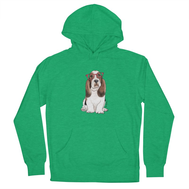 Bashful Basset Hound Women's Pullover Hoody by Tara Joy Andrews