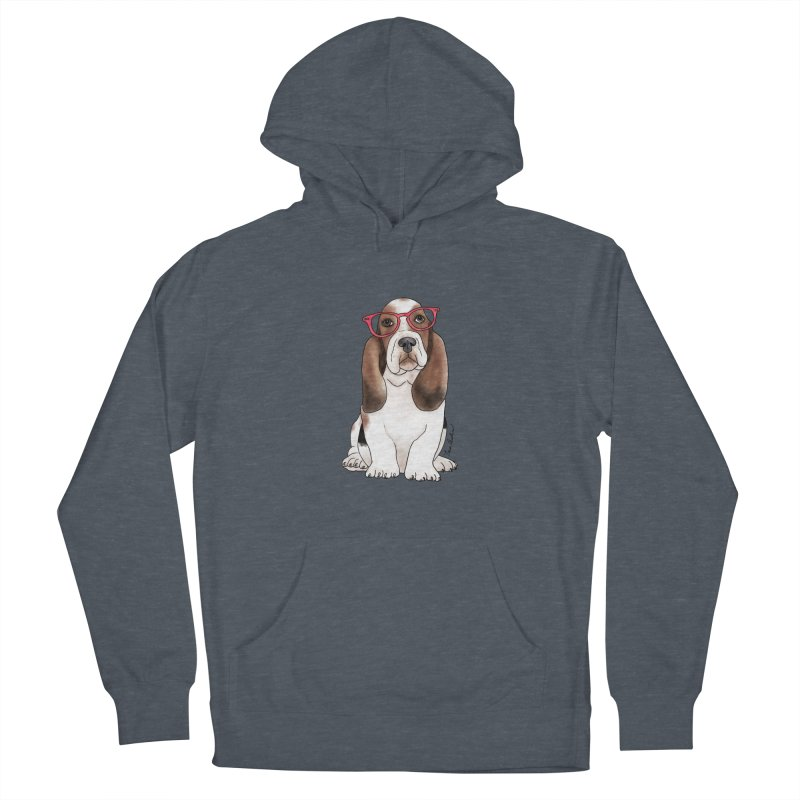 Bashful Basset Hound Women's Pullover Hoody by Tara Joy Andrews