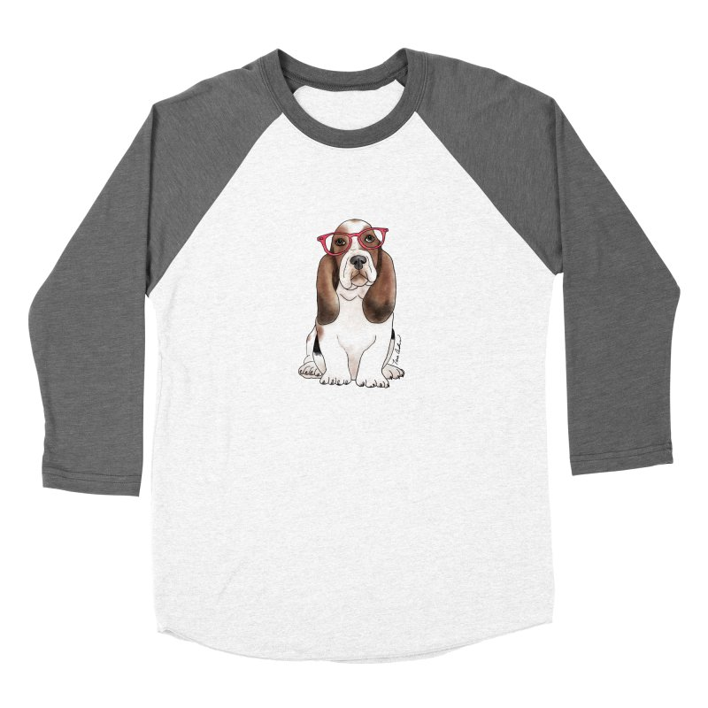 Bashful Basset Hound Women's Longsleeve T-Shirt by Tara Joy Andrews