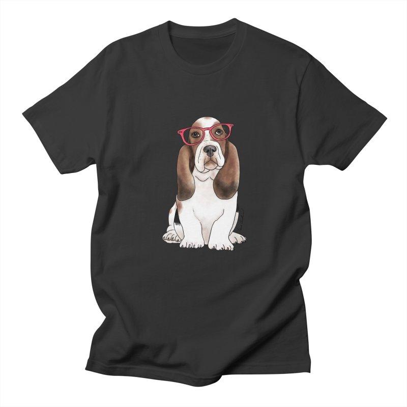 Bashful Basset Hound Men's Regular T-Shirt by Tara Joy Andrews