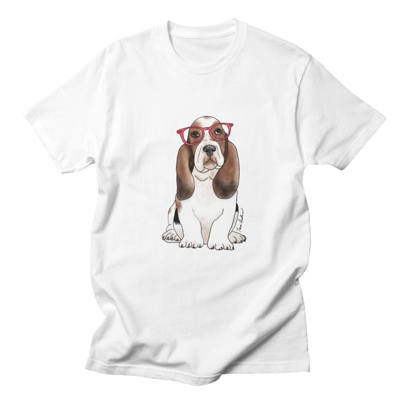 Bashful Basset Hound Men's Regular T-Shirt by Tara Joy Andrews