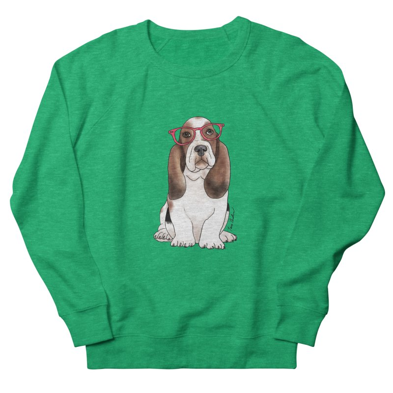 Bashful Basset Hound Women's Sweatshirt by Tara Joy Andrews