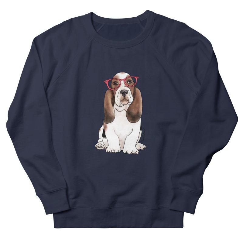 Bashful Basset Hound Women's French Terry Sweatshirt by Tara Joy Andrews