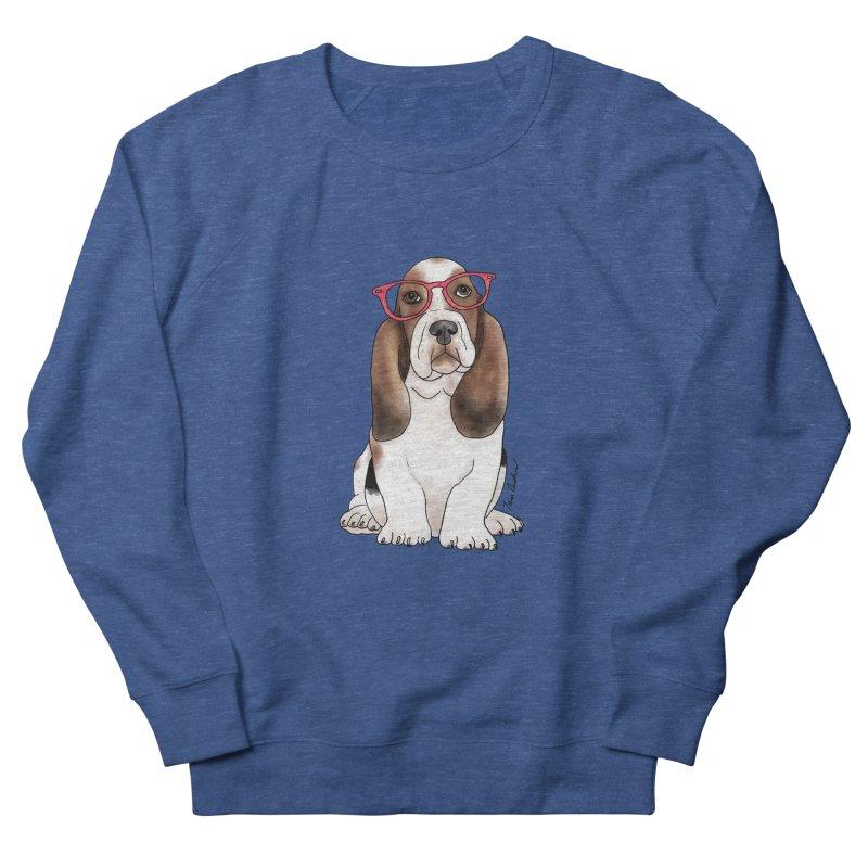 Bashful Basset Hound Men's Sweatshirt by Tara Joy Andrews