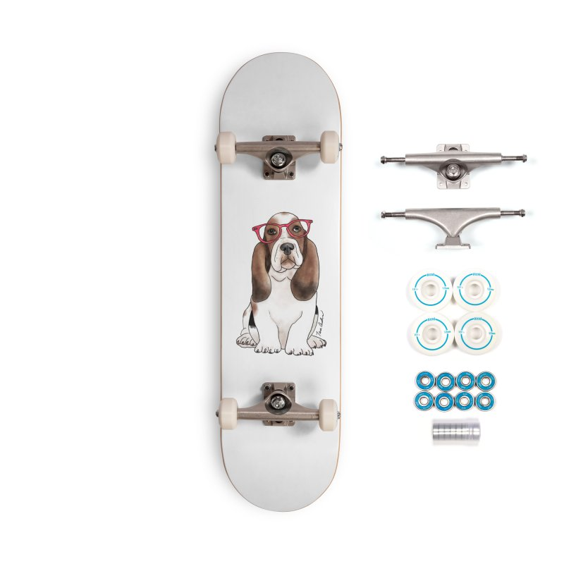Bashful Basset Hound Accessories Complete - Basic Skateboard by Tara Joy Andrews