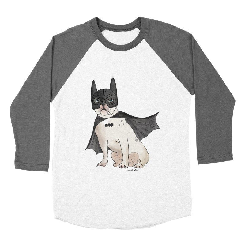 Na na na na na na Batman! in Men's Baseball Triblend Longsleeve T-Shirt Tri-Grey Sleeves by Tara Joy Andrews