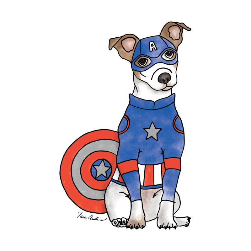 Captain America Pooch Men's Sweatshirt by Tara Joy Andrews
