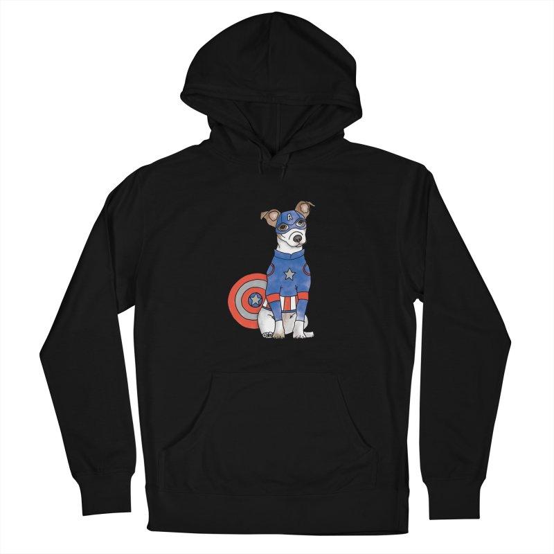 Captain America Pooch Men's Pullover Hoody by Tara Joy Andrews