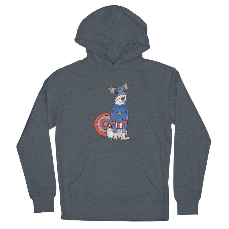 Captain America Pooch Women's Pullover Hoody by Tara Joy Andrews