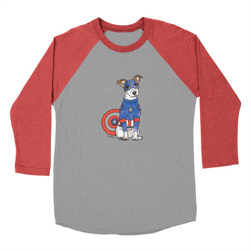 Captain America Pooch Men's Longsleeve T-Shirt by Tara Joy Andrews