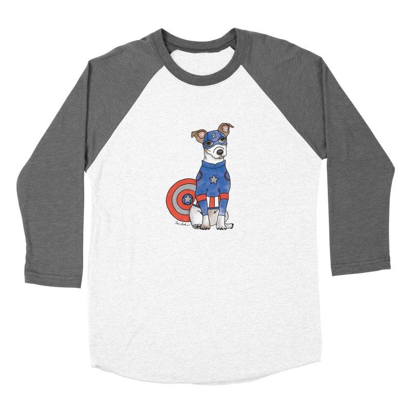 Captain America Pooch Men's Longsleeve T-Shirt by Tara Joy Andrews