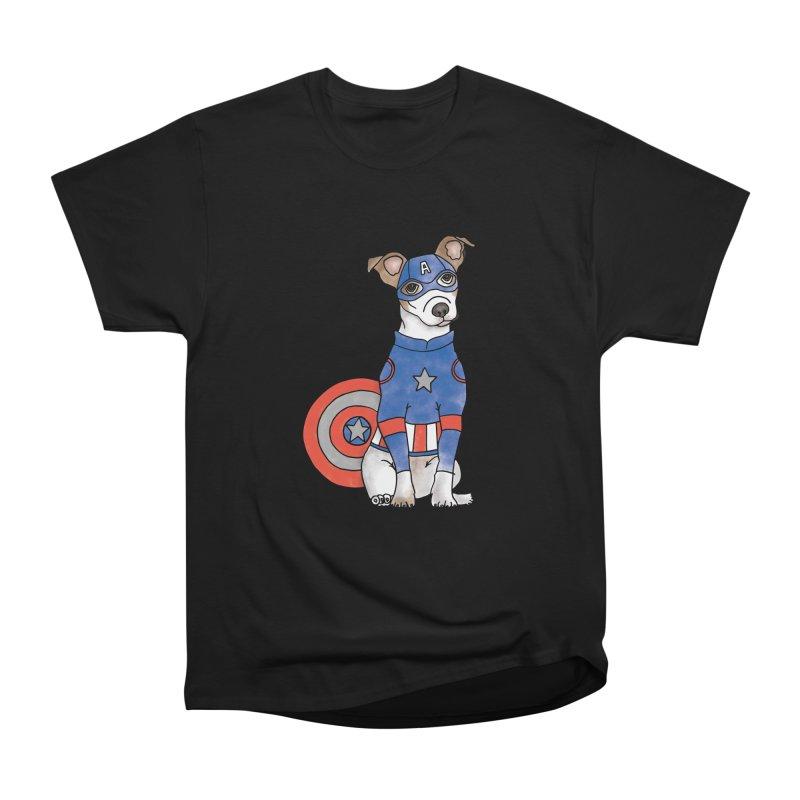Captain America Pooch Men's Heavyweight T-Shirt by Tara Joy Andrews