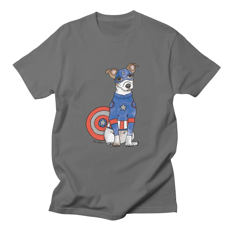 Captain America Pooch Men's T-Shirt by Tara Joy Andrews