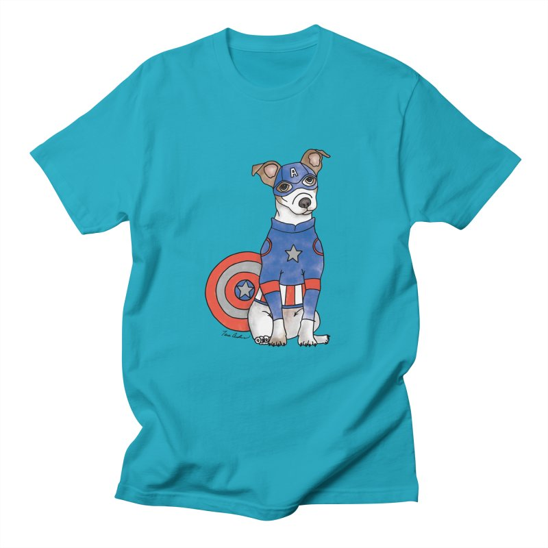 Captain America Pooch Women's Regular Unisex T-Shirt by Tara Joy Andrews