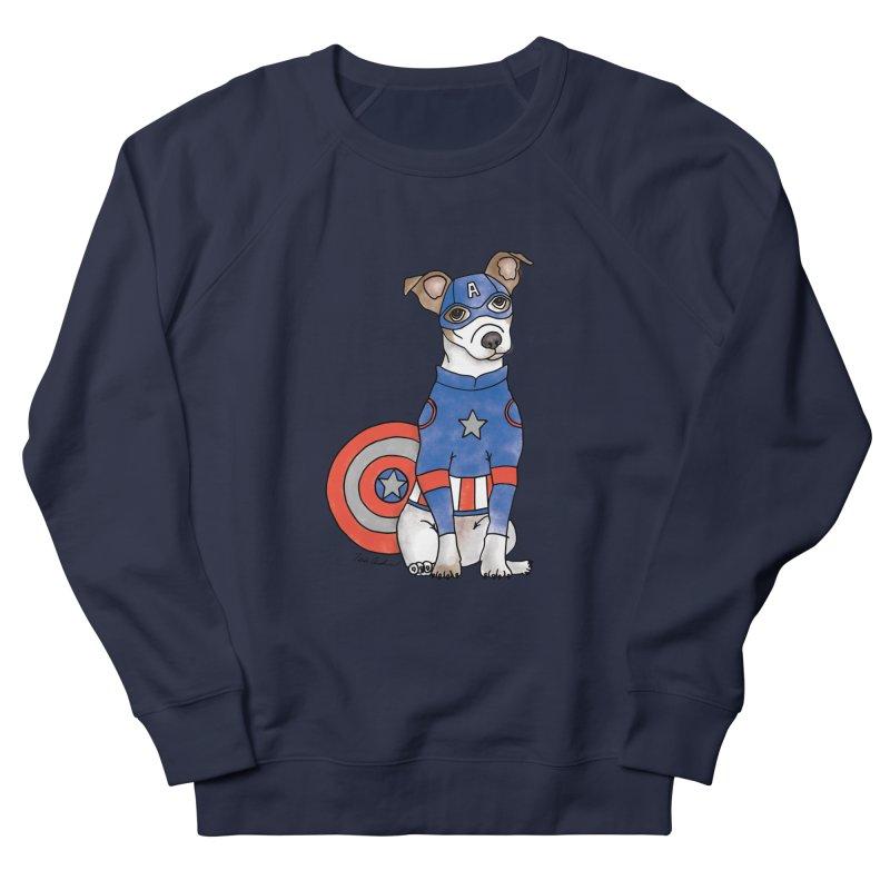 Captain America Pooch Women's French Terry Sweatshirt by Tara Joy Andrews
